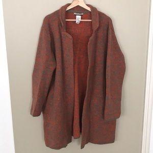 CHIARAMENTE Open Front Duster/Cardigan Wool Blend